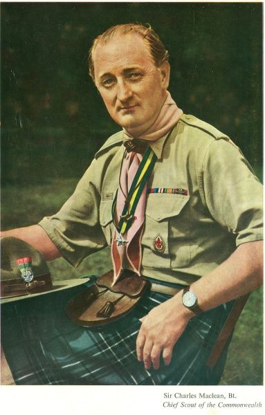 Chief Scout Sir Charles Maclean in Scout uniform Date: circa 1959