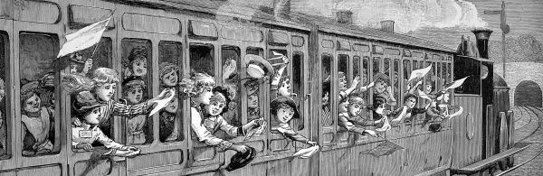 A day in the country; a children's school treat in 1889