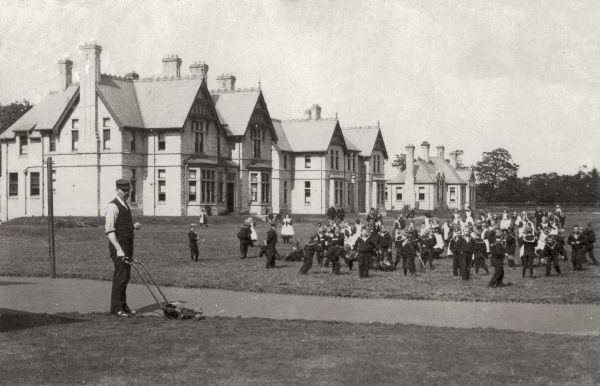 Children playing at the Hull Sailors' Orphanage, also known as Newland Homes