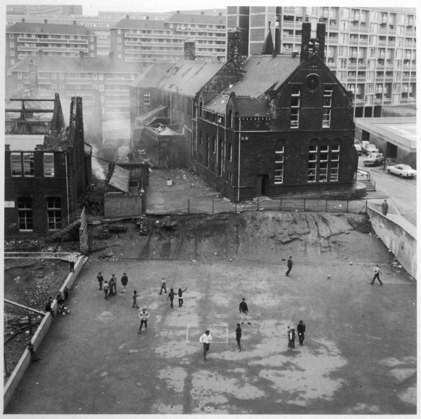 Working class children in Sheffield, South Yorkshire, playing out of doors