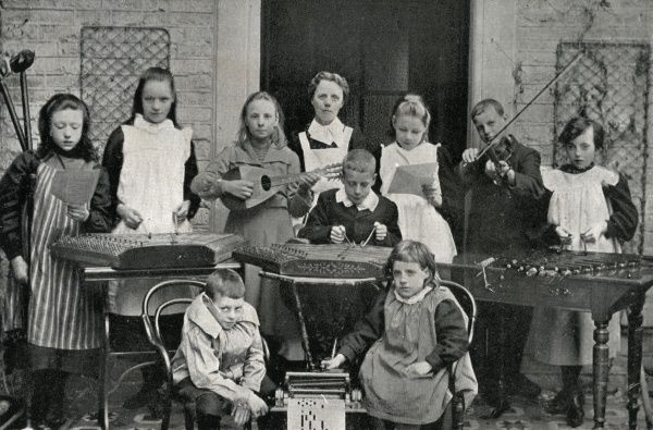 The so-called 'Cripples Choir' at the National Children's Home, Chipping Norton, Oxfordshire, opened in 1903 for what were described as 'delicate and affected children&#39