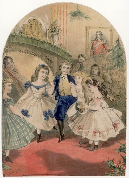 Victorian children at a Christmas party