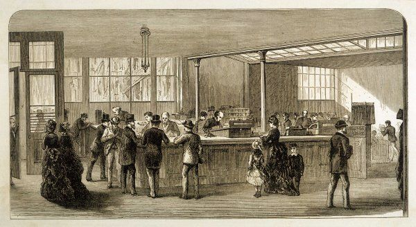 The interior of Child's Bank, Fleet Street, London