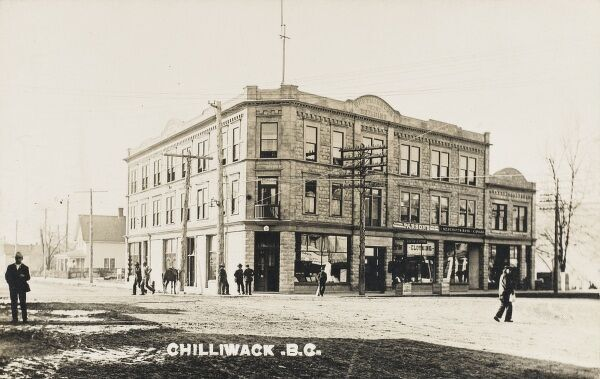 Street scene in Chilliwack, British Columbia, Canada. Nowadays a centre for white water rafting on the Fraser River