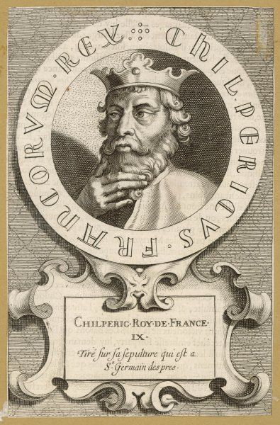 CHILPERIC I Merovingian king of Neustria known as 'Herod' to his contemporaries, and eventually assassinated