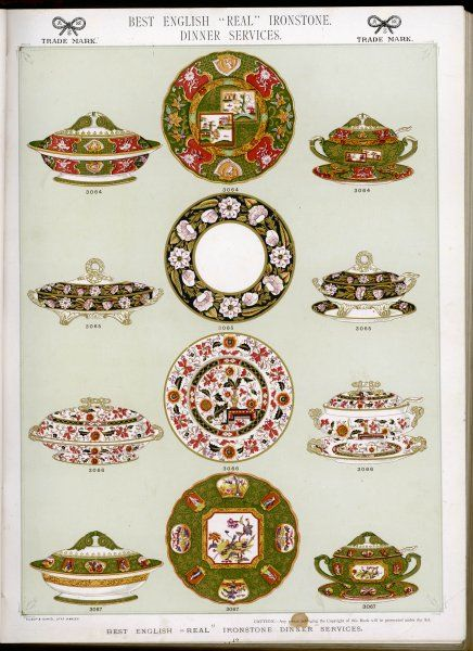 English 'real' ironstone dinner services (plate 12)