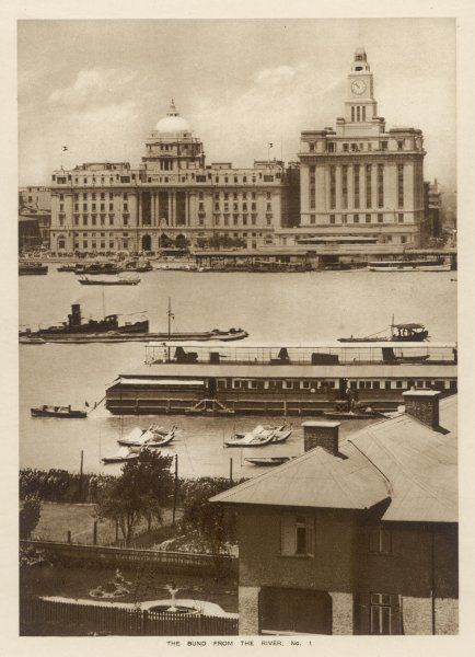 Shanghai: The Bund from the river (1 of 3)