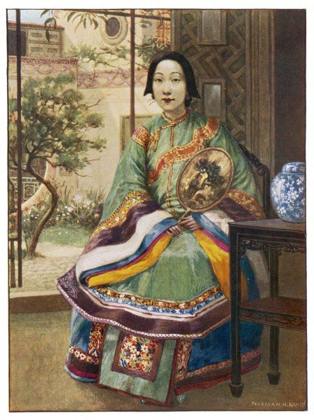 A Chinese lady in her home