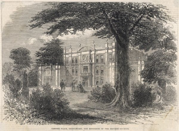 Camden Place, Chislehurst, Kent, the residence of the Empress Eugenie