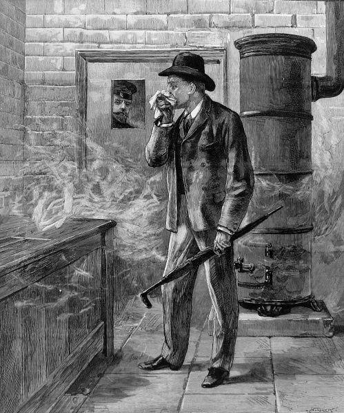Fumigating an Illustrated London News artist