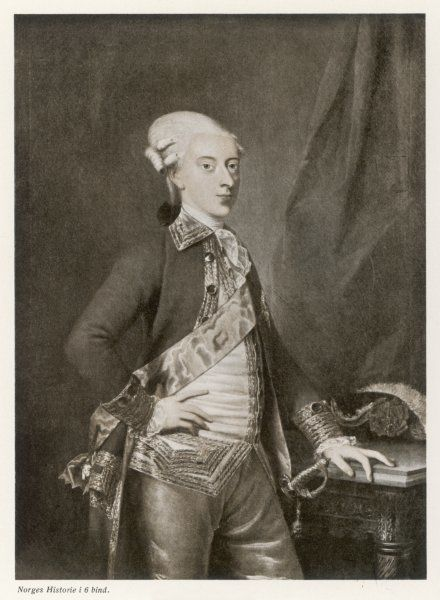 CHRISTIAN VII King of Denmark and Norway (1766-1808) - became insane and handed over control to Crown Prince Frederick (Frederick VI)