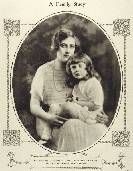 AGATHA CHRISTIE with her daughter Rosalind