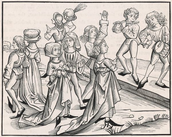 Dancers on Christmas Night are punished for their impiety, and condemned to dance for a whole year - a legend of the 15th century