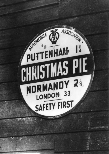 Christmas Pie - very seasonable at Christmas, but a most unusual name for a small village under the shadow of the Hog's Back, Surrey, England. Date: 1950s