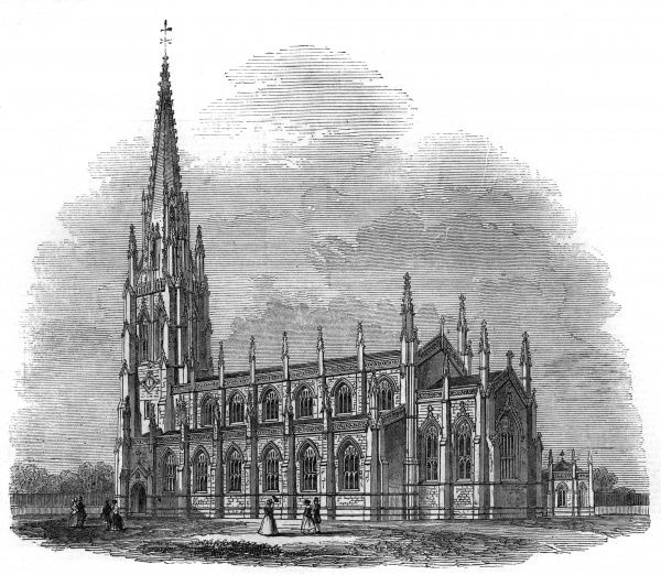 Church of the Holy Trinity, Bishop's Road, Paddington, London. Date: 1845