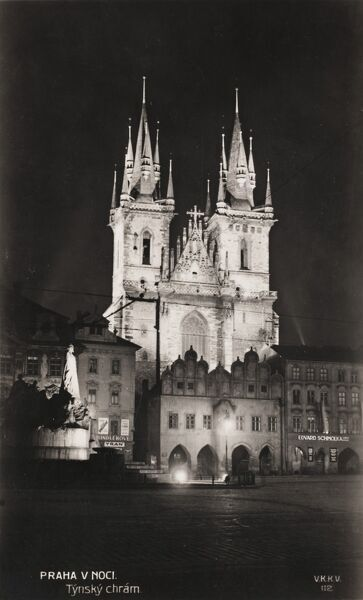 The Gothic magnificence of the Church of Our Lady before Tyn - Prague, Czech Republic
