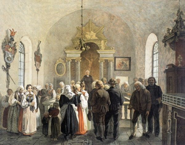Offering in a Country-Church, Date: 1858