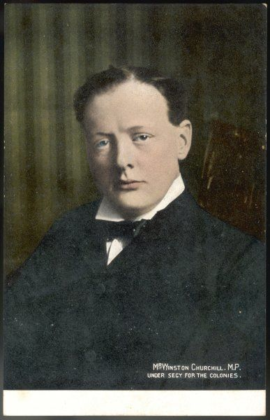 MR WINSTON CHURCHILL when he was under-secretary for the colonies in Campbell- Bannerman's government
