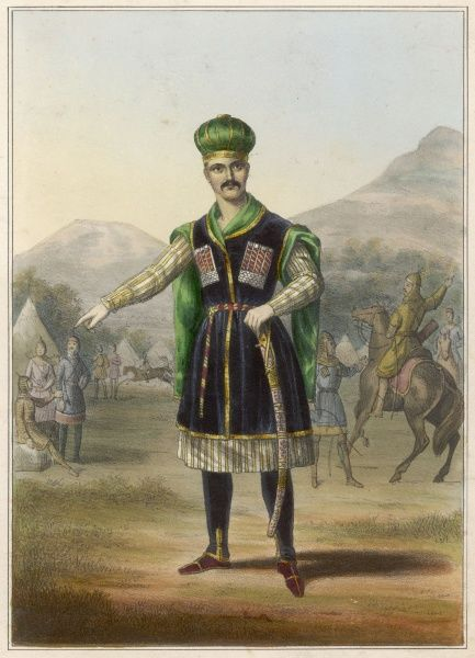 A Circassian man of rank : Circassia is now part of the Karachai-Cherkess region