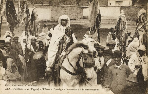 Porcessional cortege during a young boy's Circumcision Ceremony - Morocco