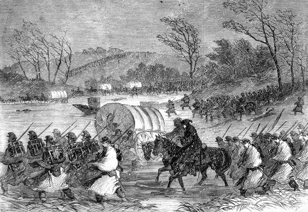 Unsuccessful attempt of the Army of the Potomac to cross the Rappahannock on the 20th January 1863