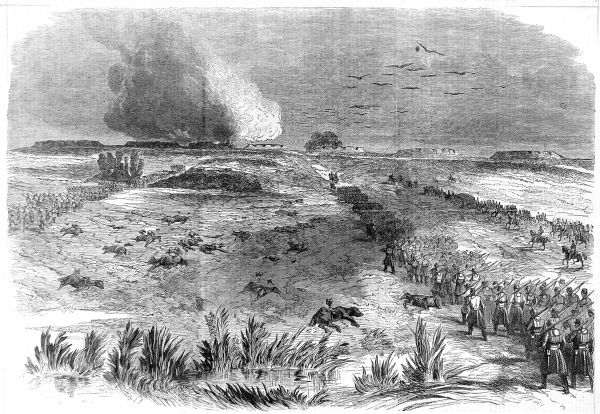 The Unionists began to gain the upper hand against Confederate forces as the Peninsular Campaign took hold during 1862