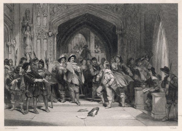 Colonel Pride's purge of the Members unsupporting of the army from the House of Commons