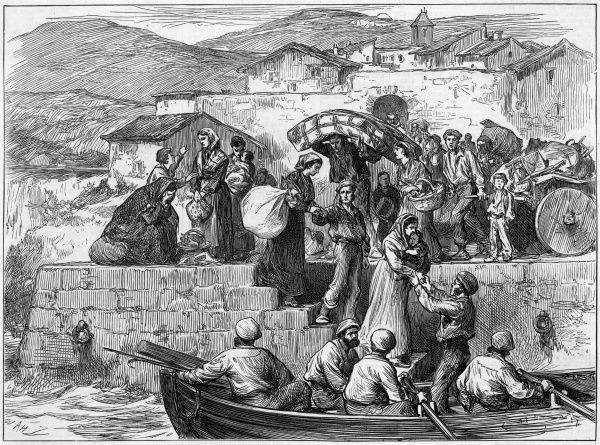 Refugees : as civil war rages between the government and the Carlists, the villagers of Guetaria flee taking their belongings with them
