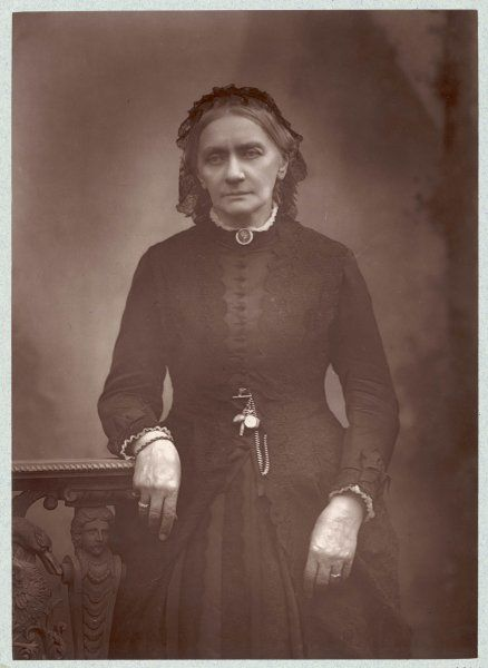 CLARA SCHUMANN nee Wieck, German musician, wife of Robert Schumann in 1888