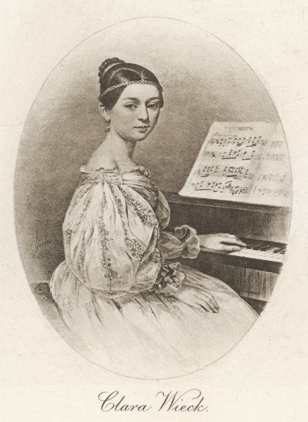 CLARA SCHUMANN nee Wieck, German musician, wife of Robert Schumann as a young woman