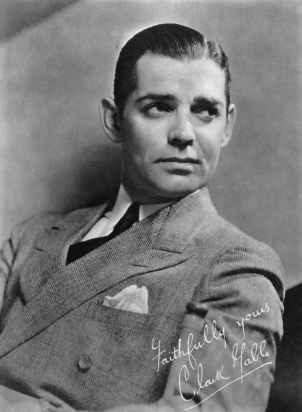 Clark Gable (1901-1960) American actor whose most famous film was probably Gone with the Wind
