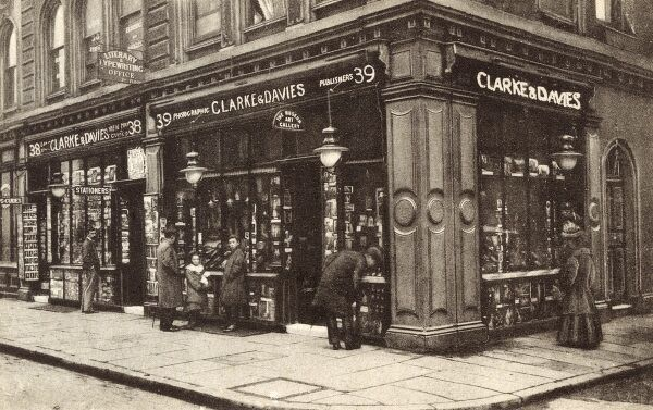 Clarke & Davies, Museum Street, London. A shop where one could purchase 'the best photographs of the various Galleries of Europe'! A picture framing service was also offered, as well as the traditional wares of a large Stationers Shop