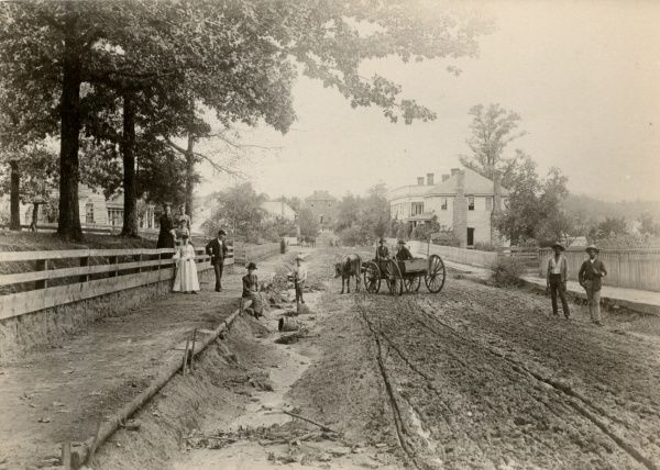 Street Scene in Clarksville, Georgia - July, 1888