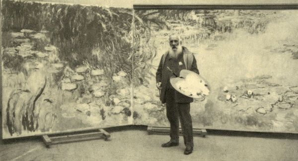 CLAUDE MONET French artist, photographed at work in 1923. Date: 1840-1926