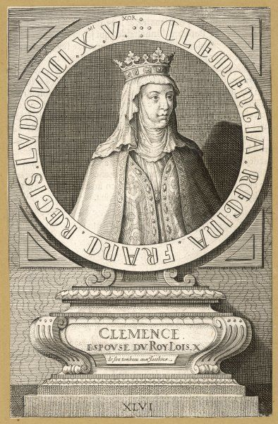 CLEMENCE, queen of Louis X le Hutin, King of France