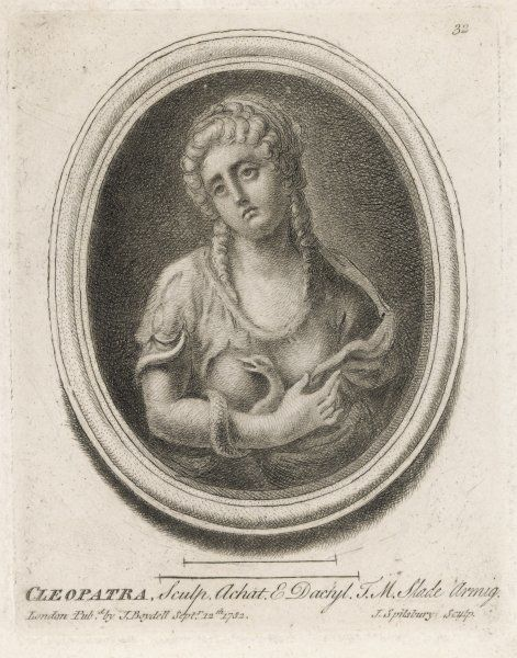 CLEOPATRA VII with the asp which ended her life