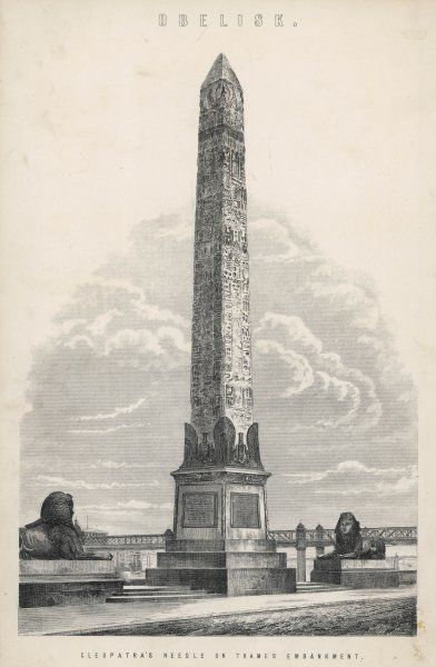 Cleopatra's Needle on the Thames Embankment, London