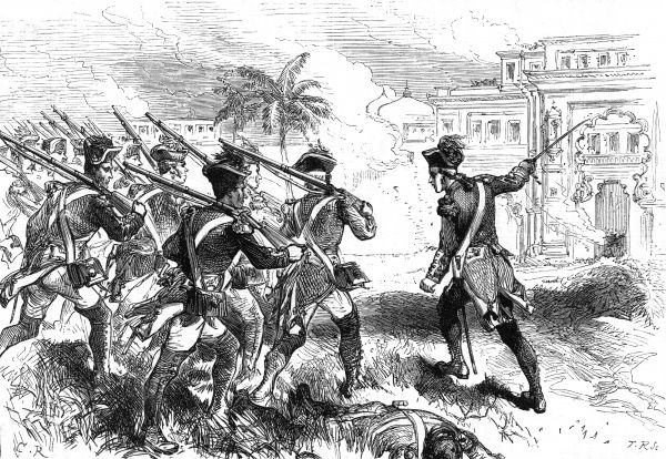 Robert Clive directs the attack on Conjeveram in 1751 Date: 1751