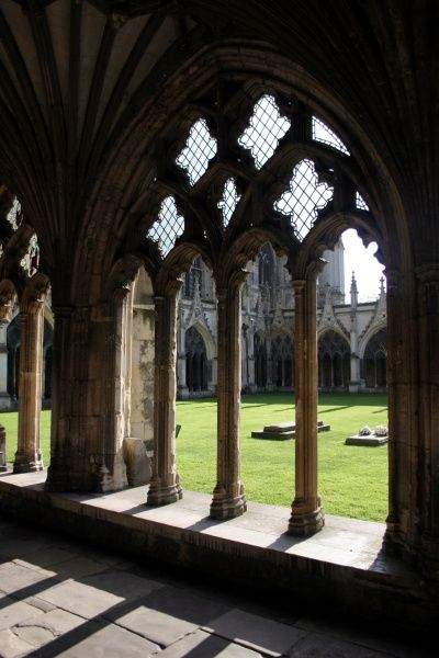 Cloisters of Canterbury Cathedral, Canterbury, Kent, England circa 2008