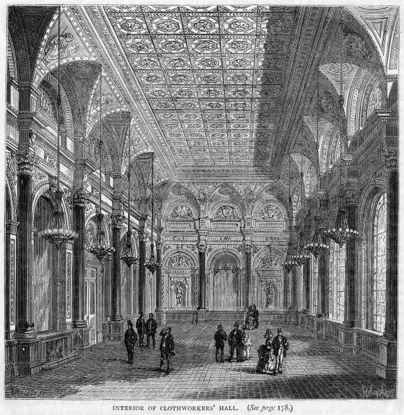 The interior of Clothworkers' Hall