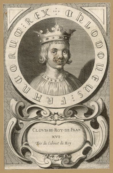 CLOVIS III Merovingian king of Neustria and Austrasia, though only for one year