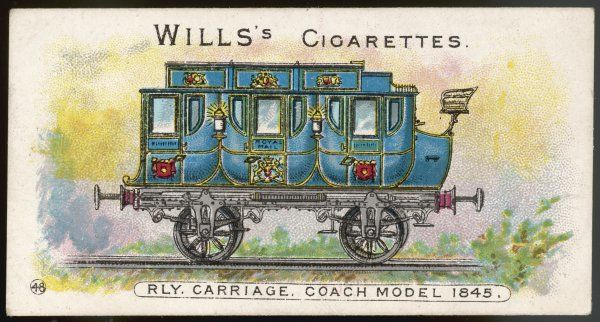 Many of the early railway carriages were constructed like road coaches - even with a high seat at the back