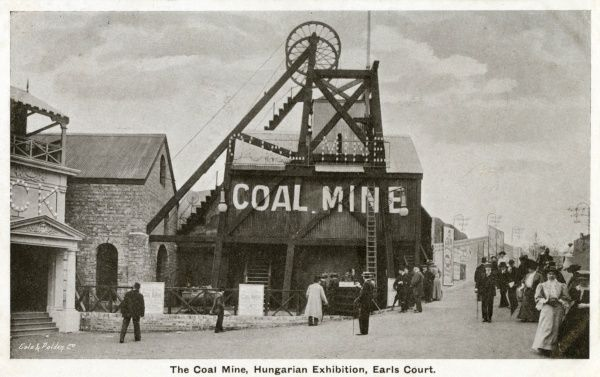 View of a Coal Mine at the Hungarian Exhibition, Earls Court, London. Date: 1908