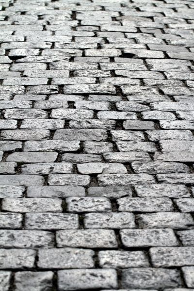 Cobbles on the road in Stockholm, Sweden circa 2008