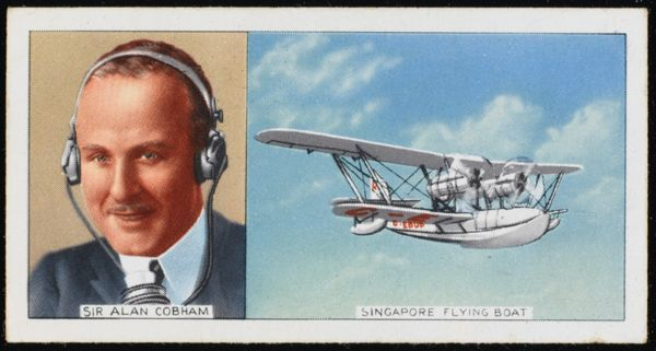 ALAN COBHAM Aviator with the Singapore Flying Boat