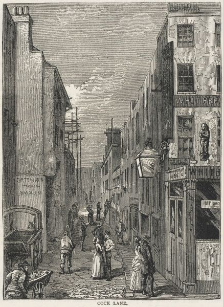 The street was made famous in the 18th century by a sensational ghost story - which turned out to be a hoax