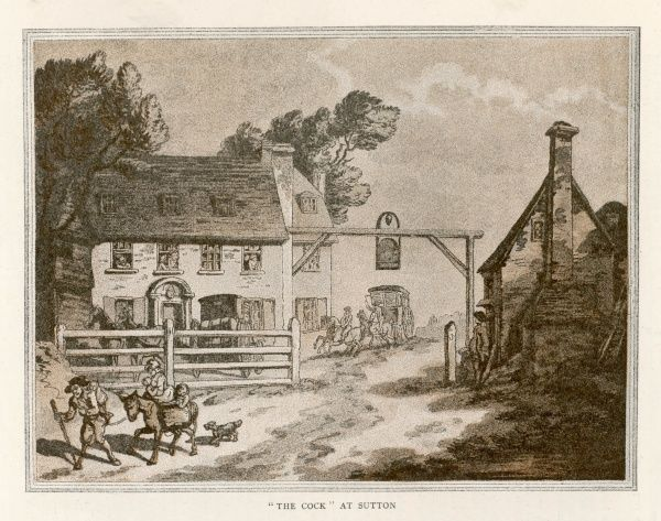 The Cock tavern at Sutton, Surrey, England