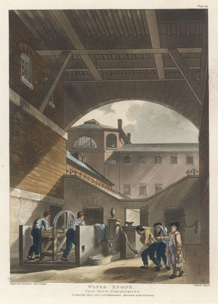 The Water-Engine Court, where prisoners at hard labour work for an hour at a stretch