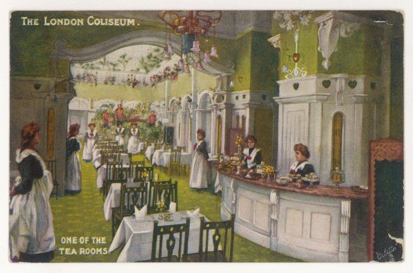 The tea rooms of this London theatre designed by Frank Matcham in 1904 as a variety house with a magnificent florid Edwardian interior