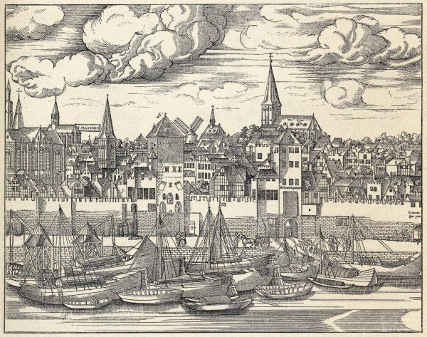 Cologne: general view with boats